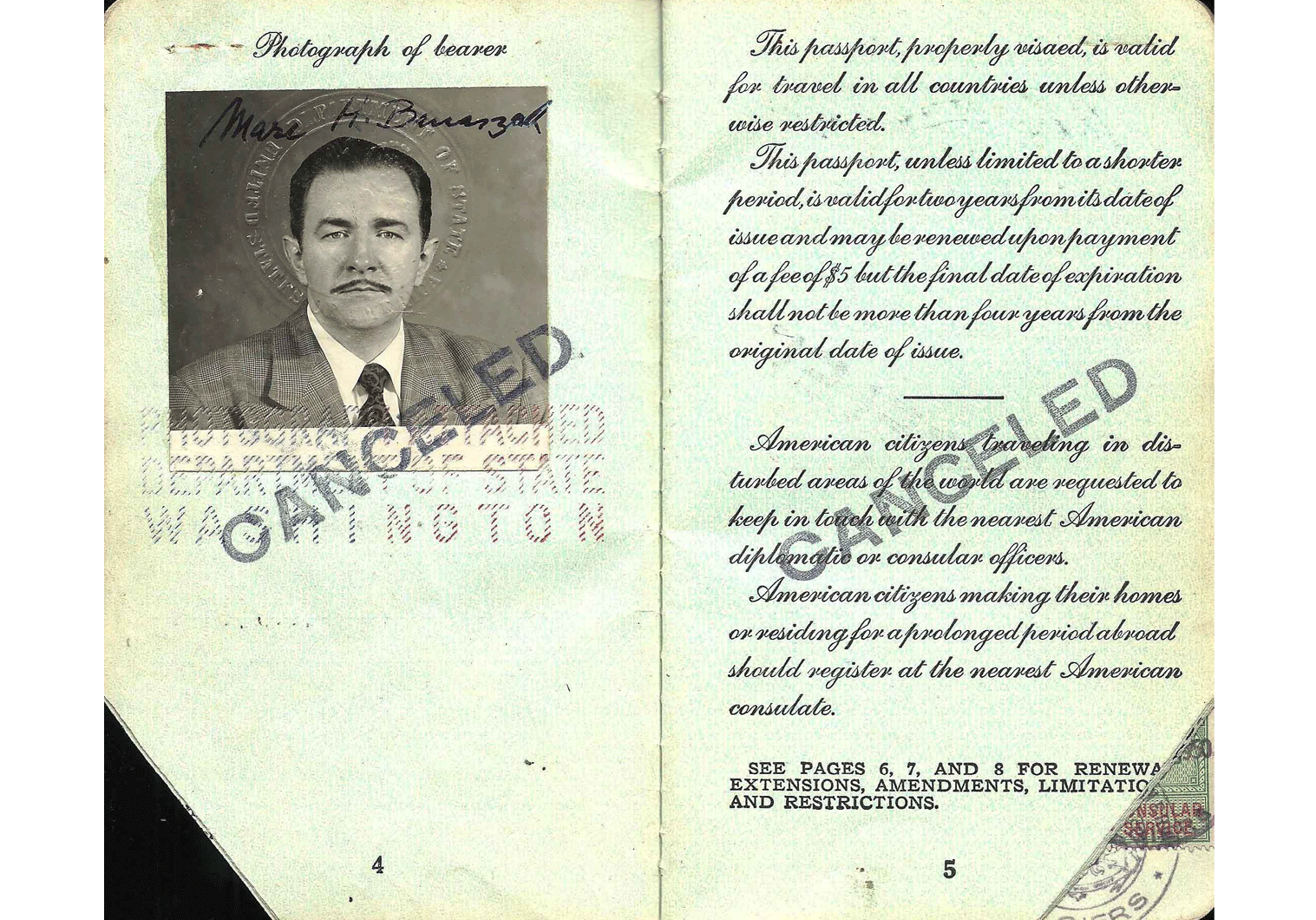 Cold-War US passport