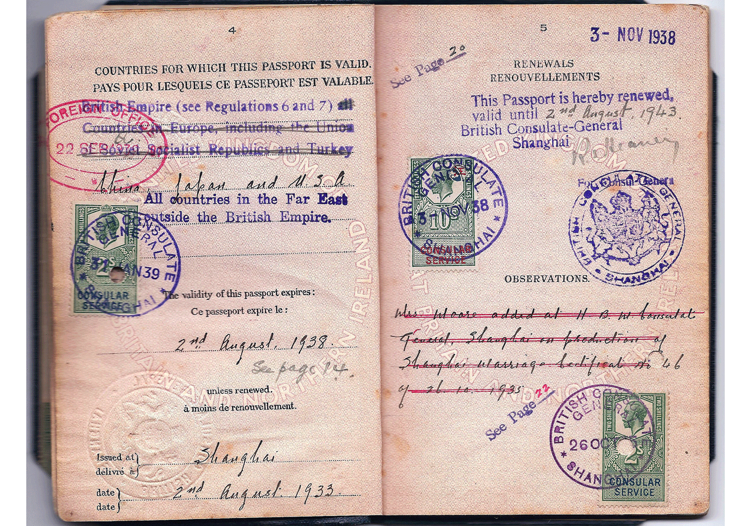 WW2 passport