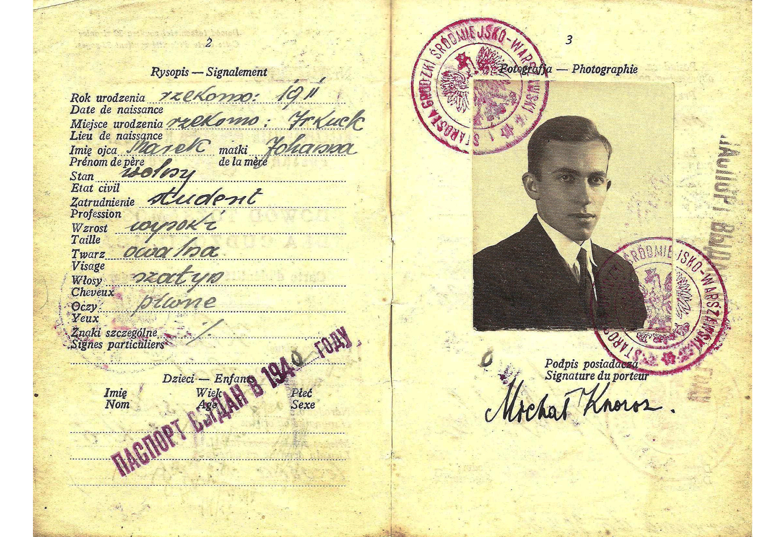 WW2 travel document Poland