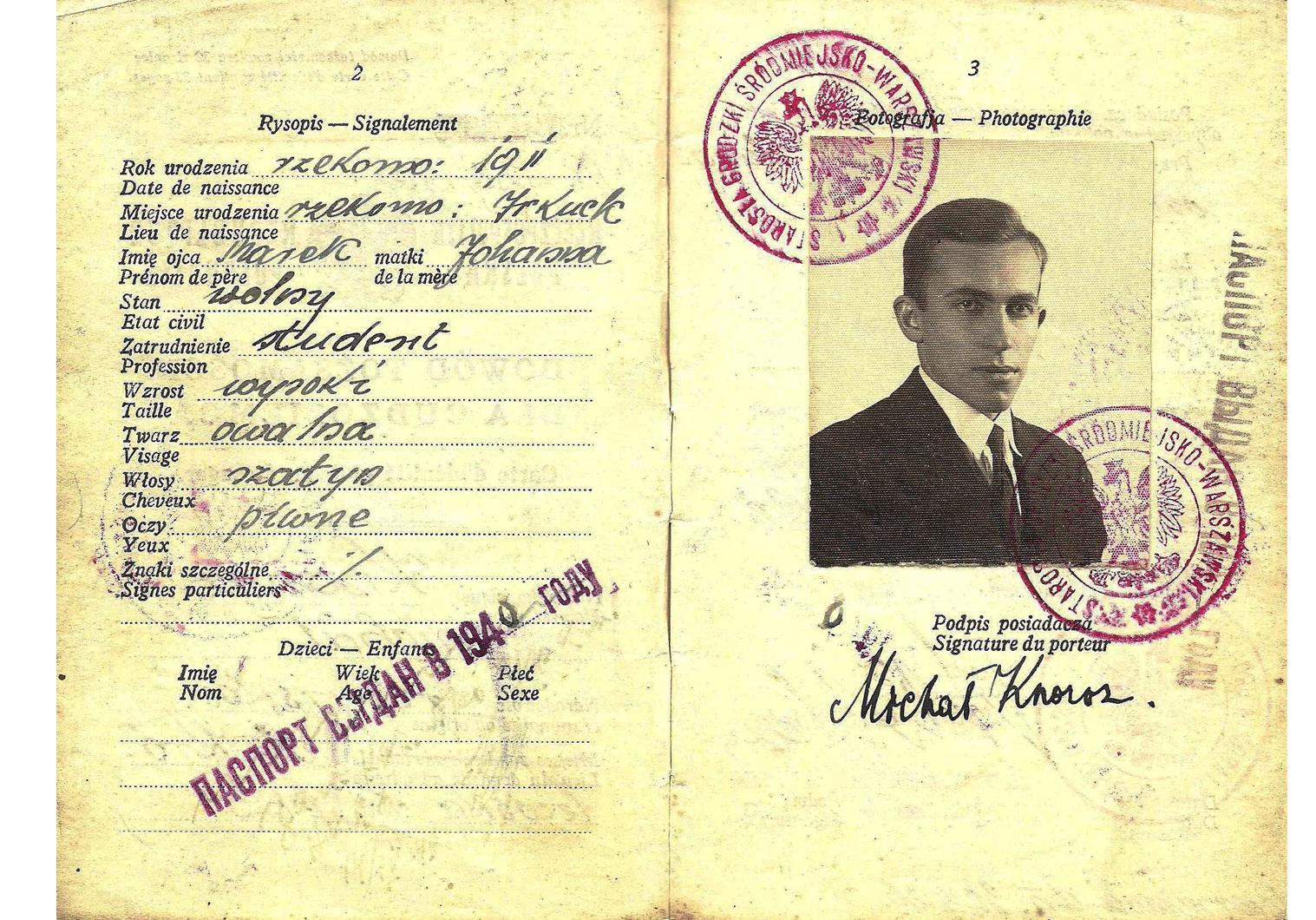 WW2 travel document Poland