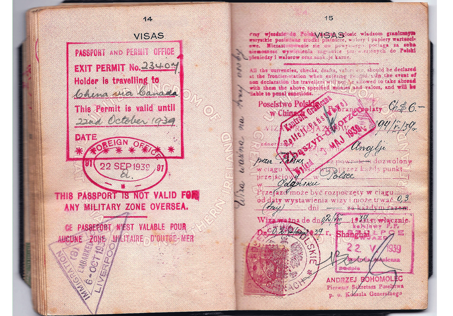 Polish WW2 visa