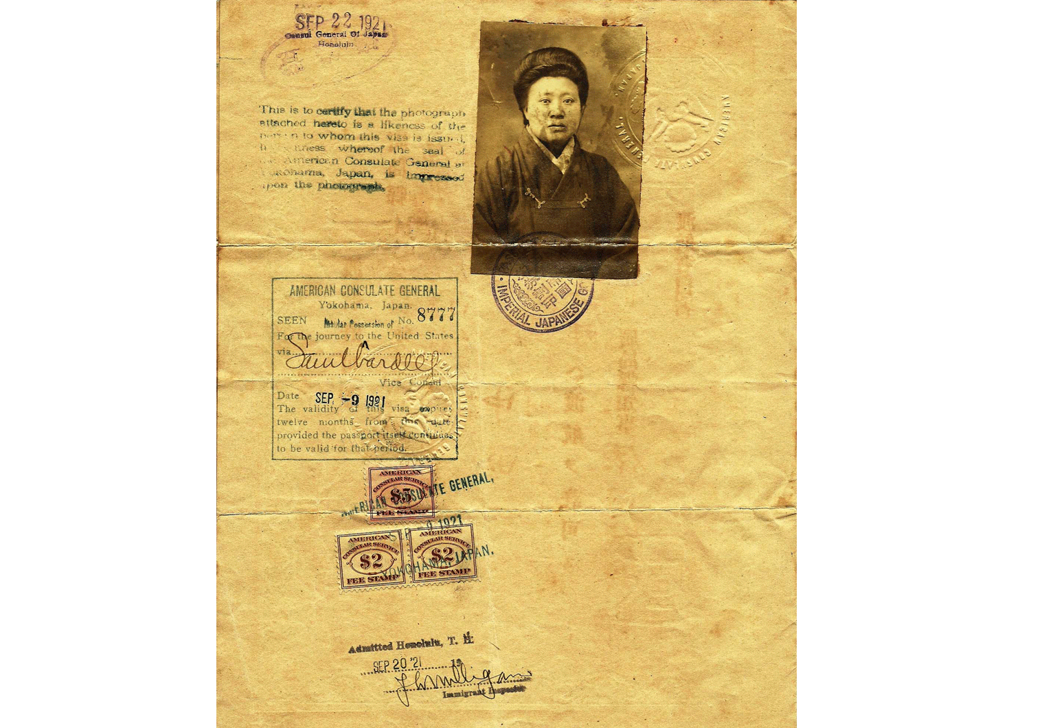 Early Japanese passport