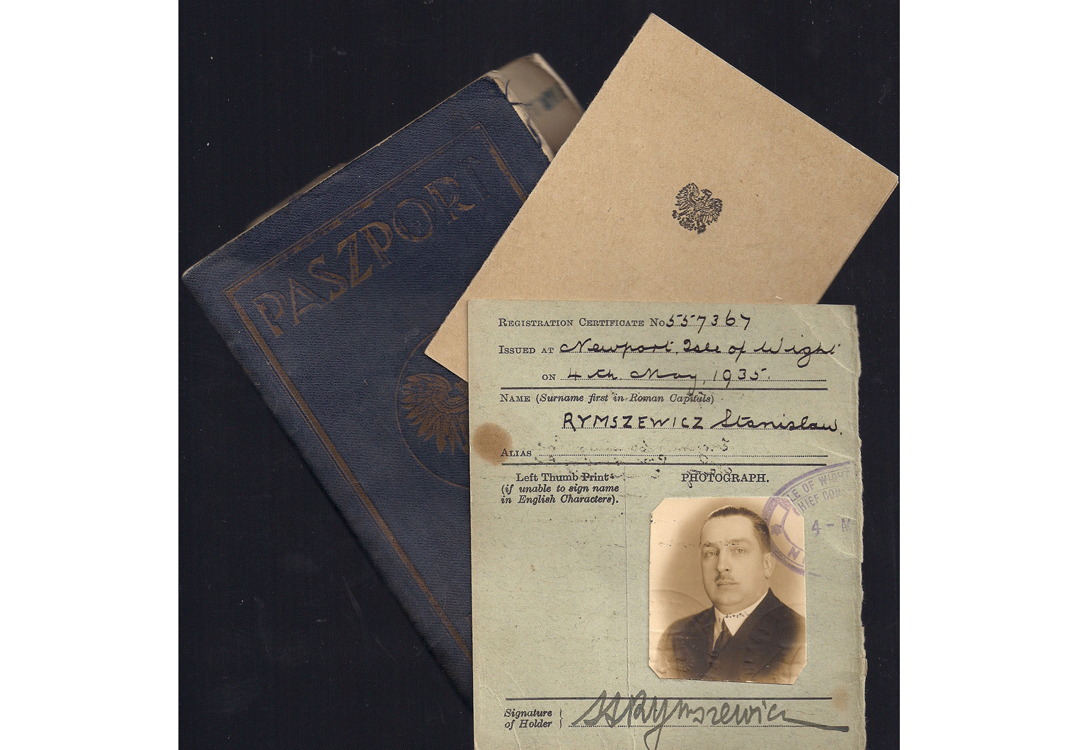 War time used Polish passport