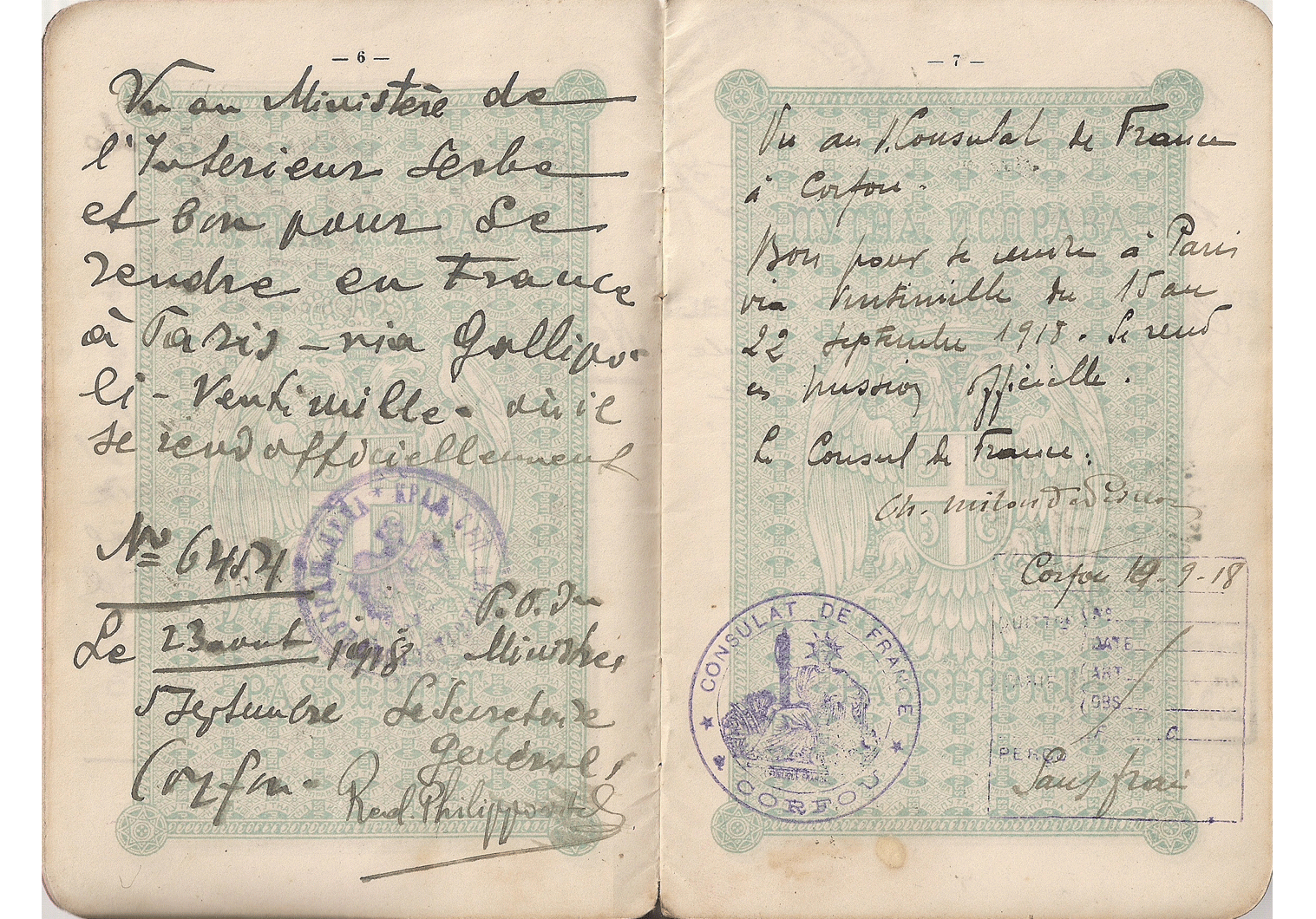WWI offcial passport