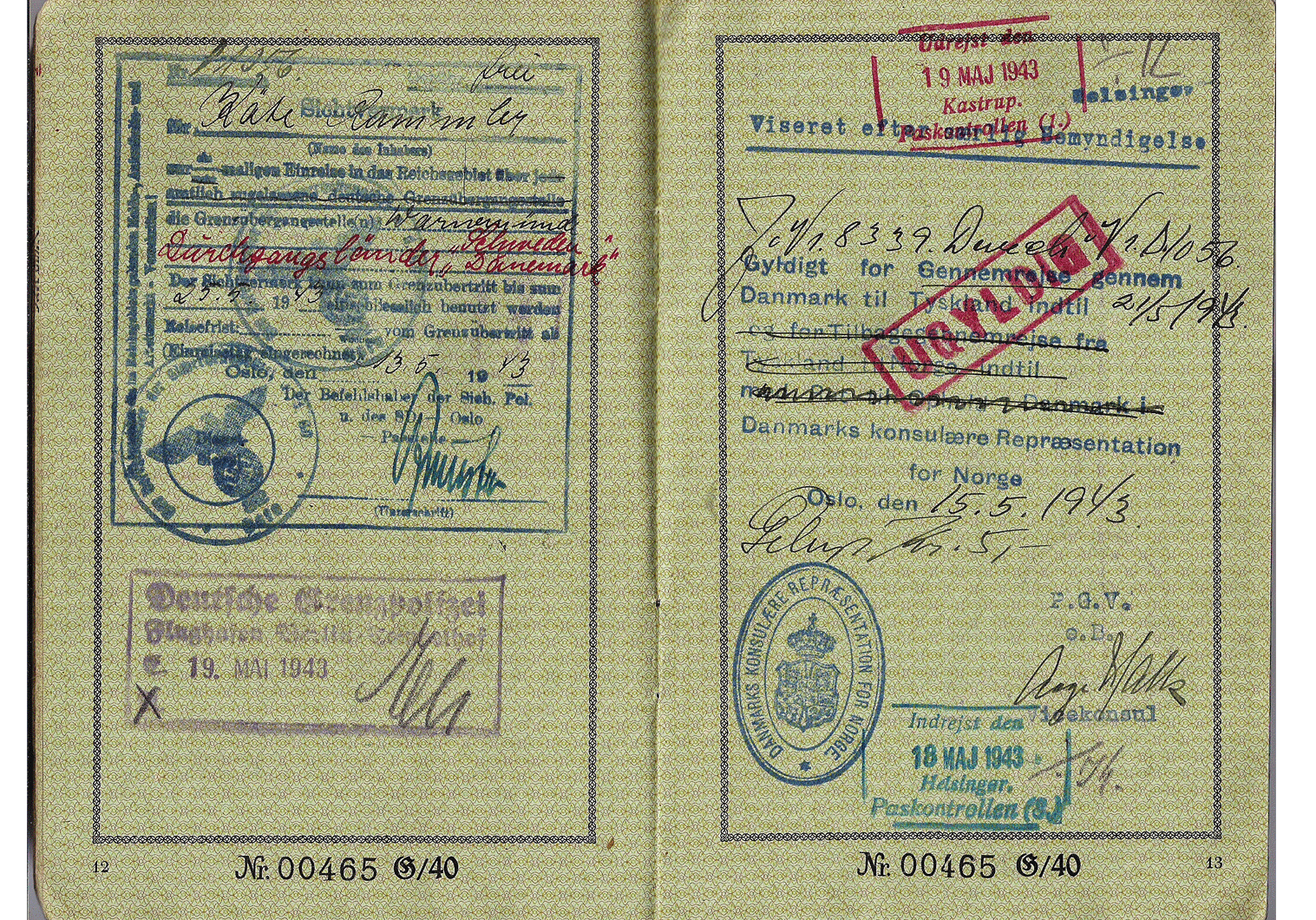 German passport used for Oslo