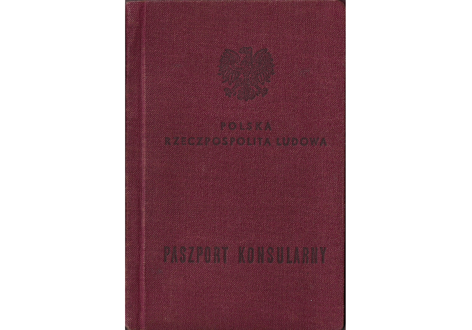 post-WW2 Polish consular passport