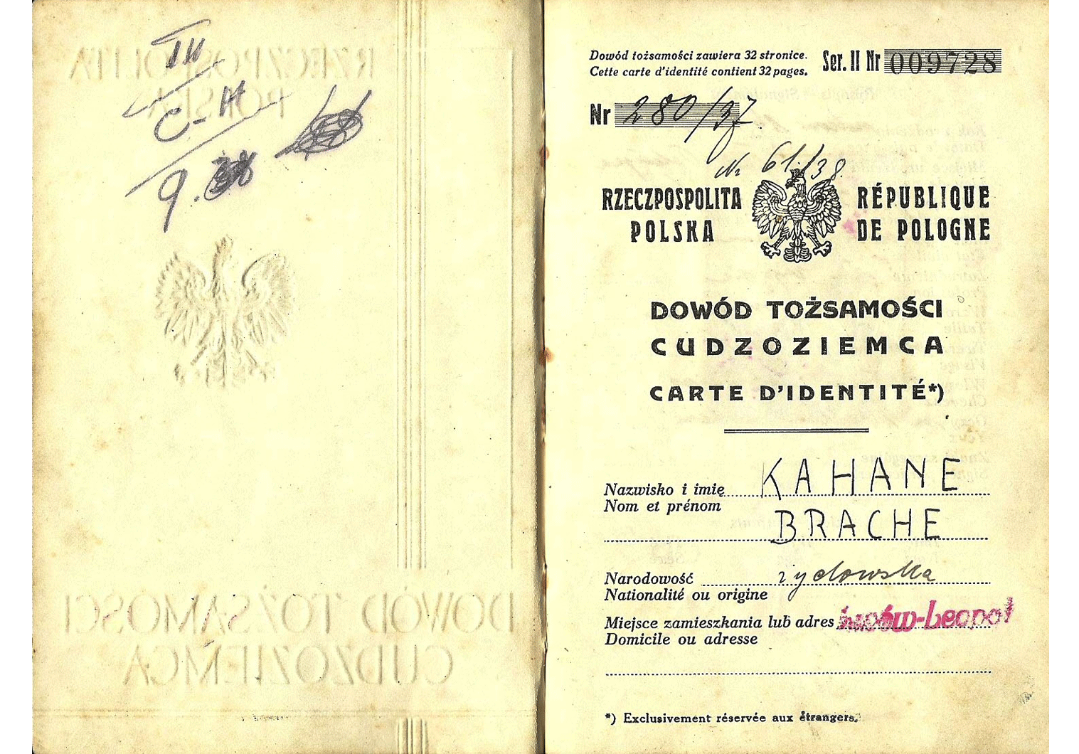 WW2 Polish travel document
