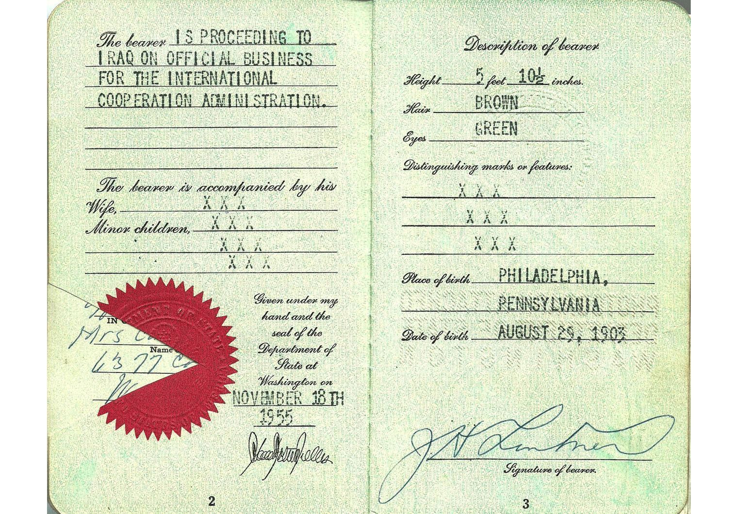 cold-war US special passport