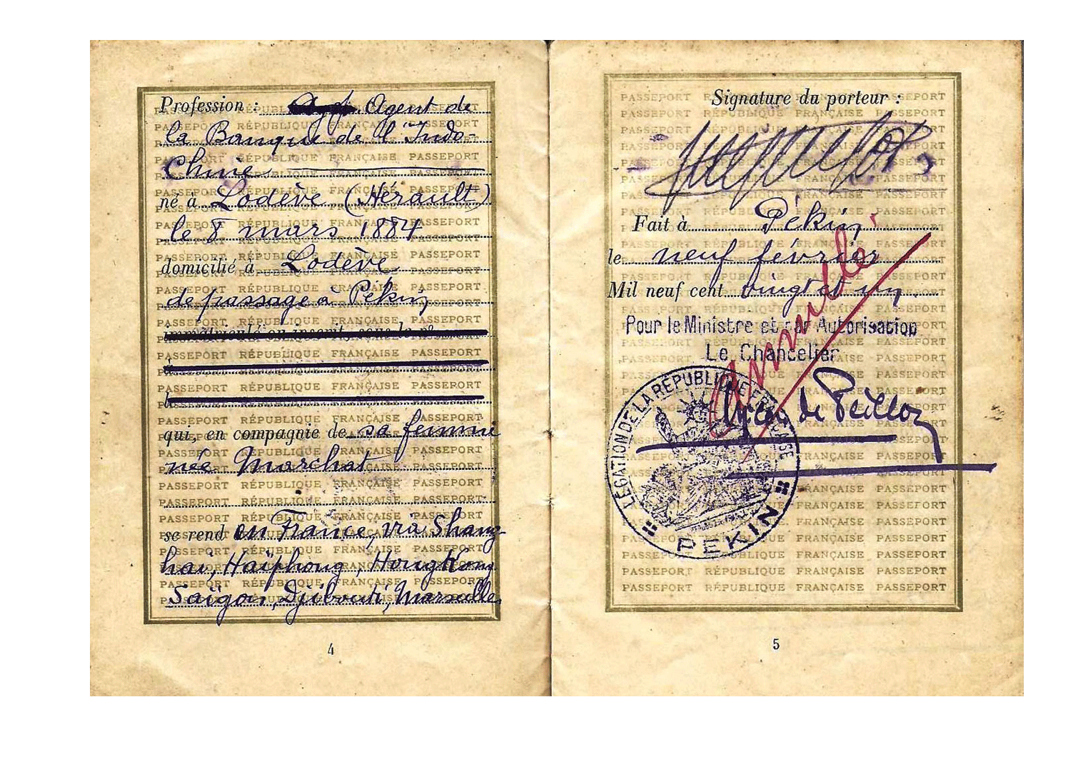 1921 Beijing passport