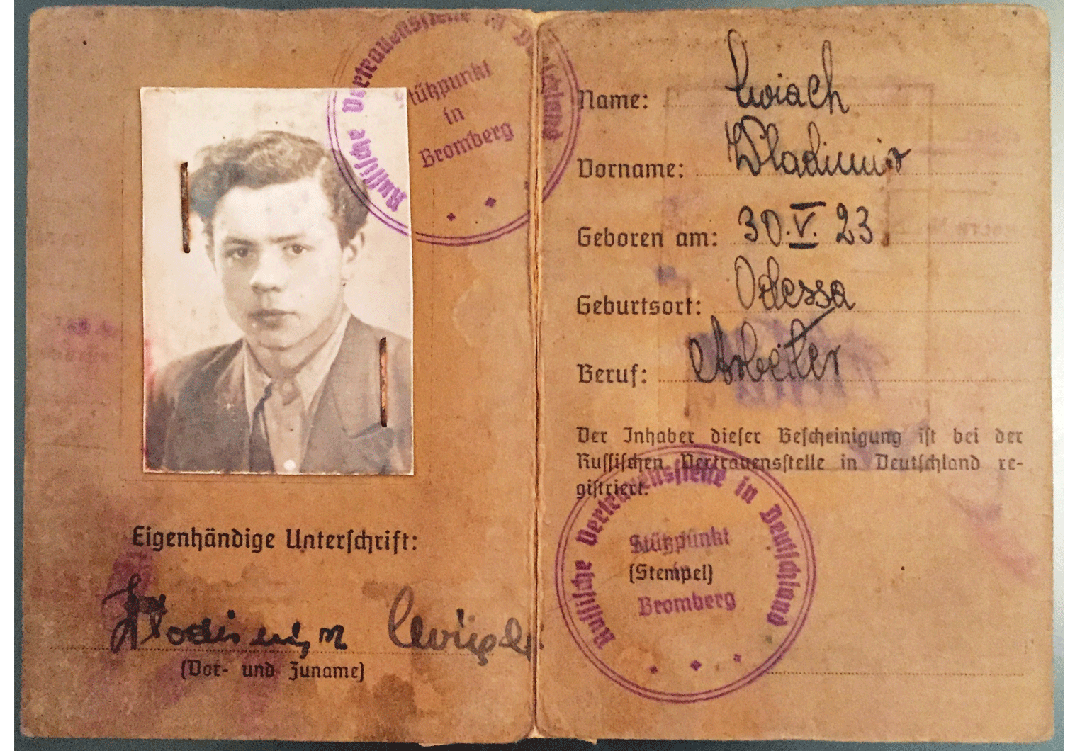 WW2 identity document