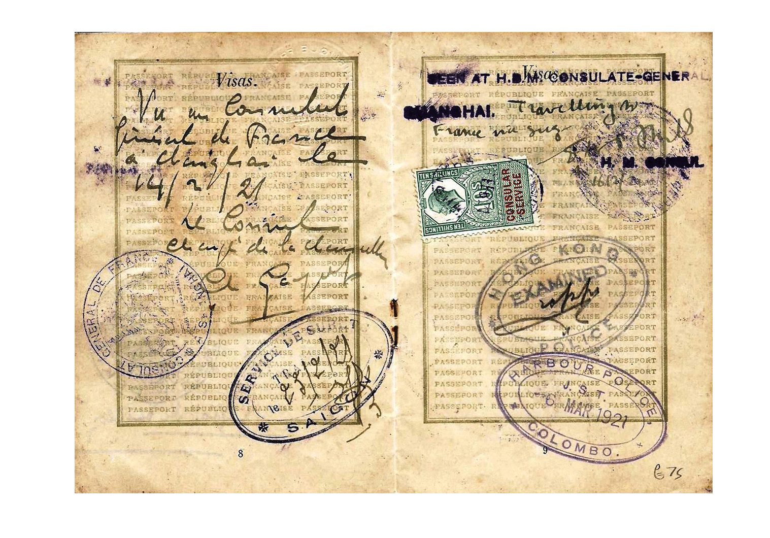 1921 Chinese old passport