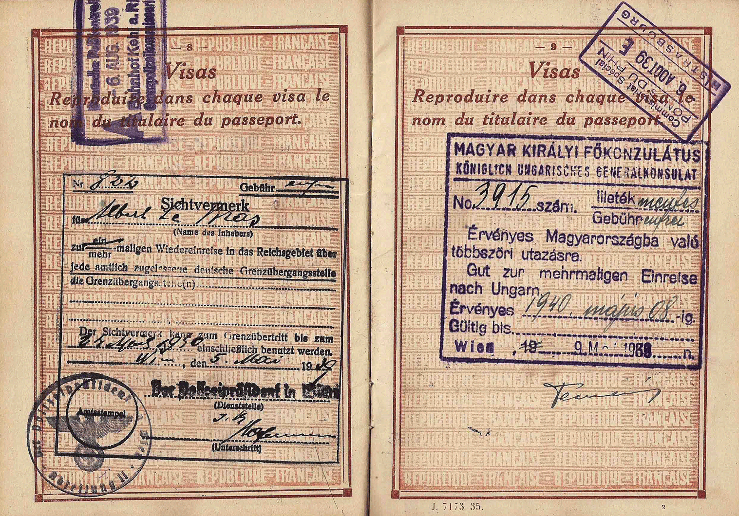 WW2 French passport