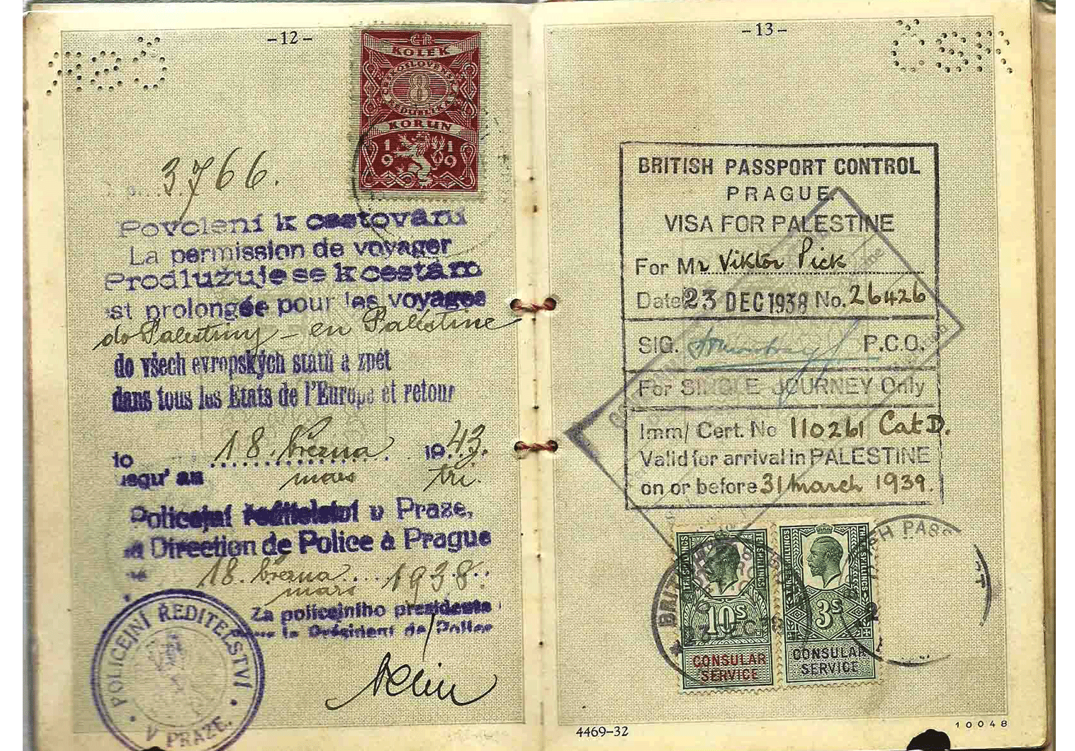 Czech pre-war Jewish passport
