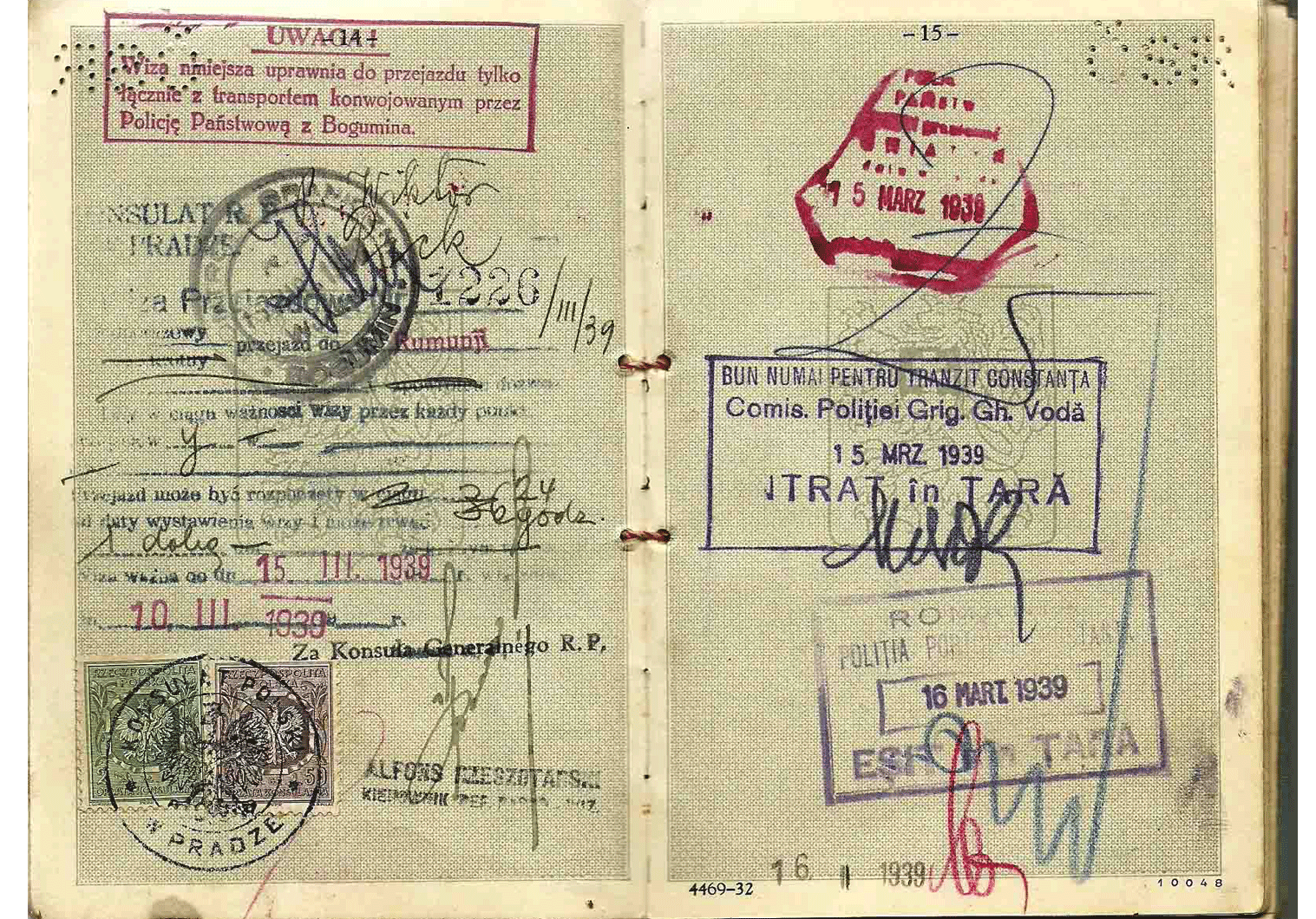 WW2 Czech Jewish passport