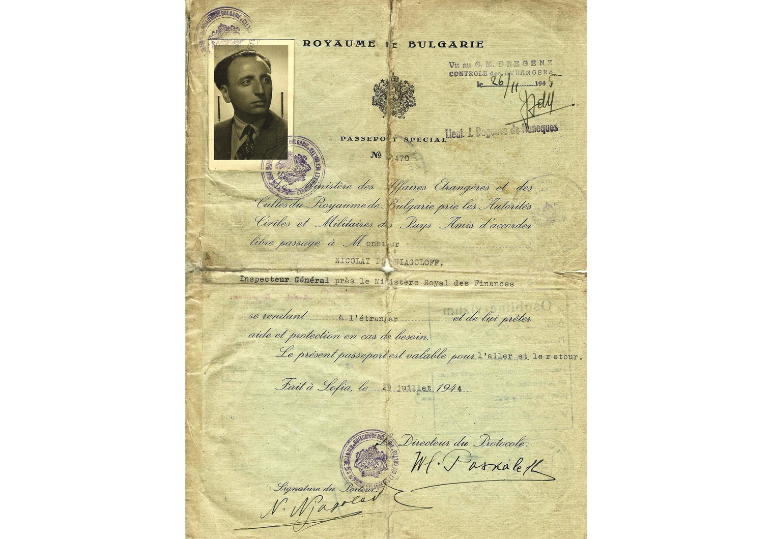 WW2 Axis Special Passport