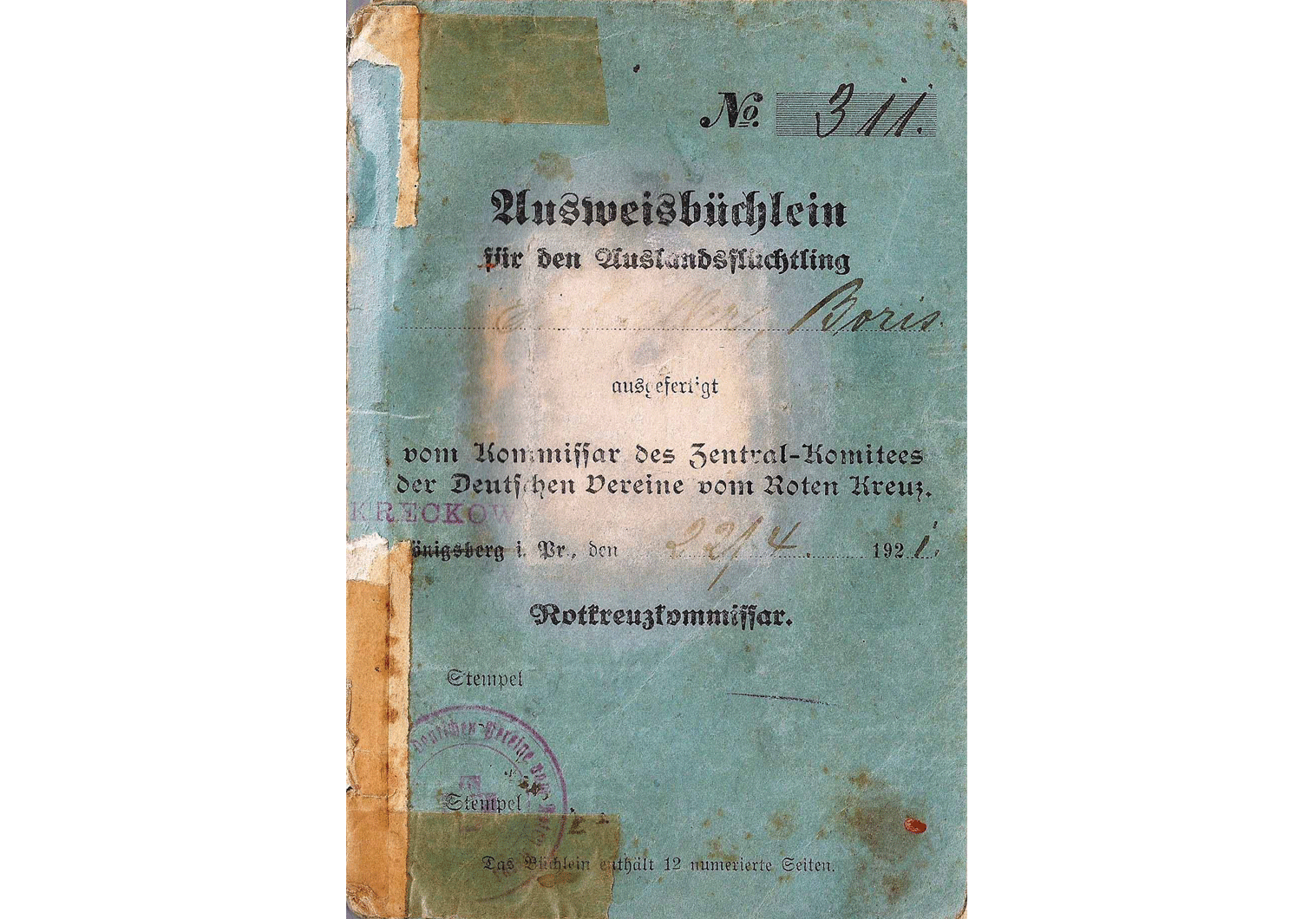 WWI Refugee passport
