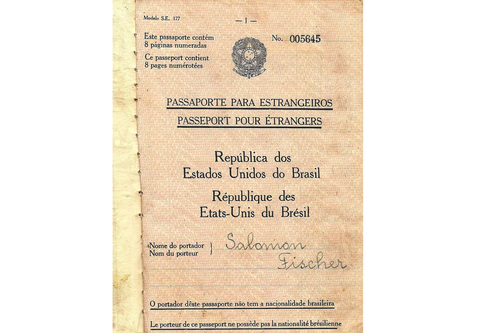 Brazilian stateless passport
