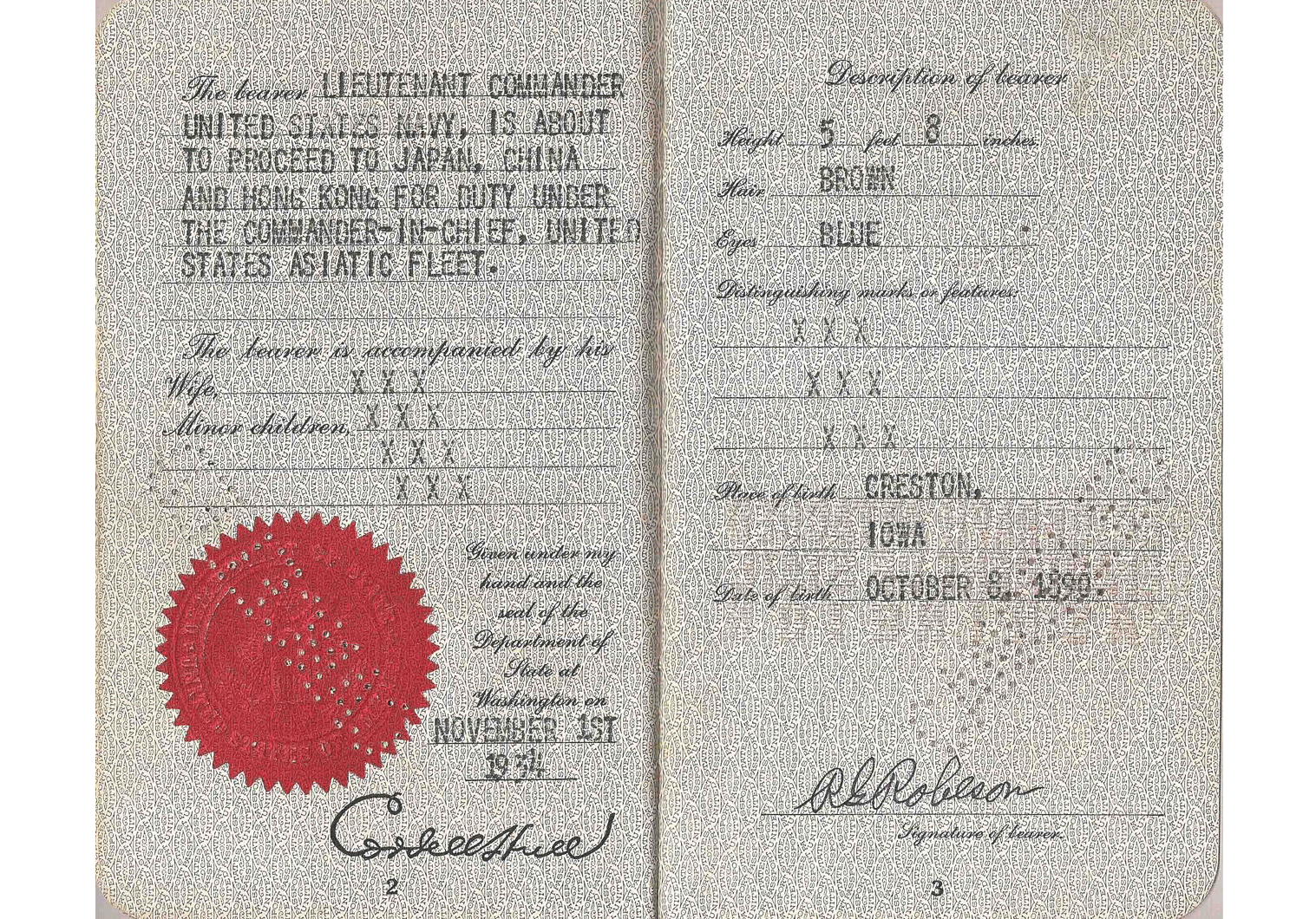 WW2 US Special passport.