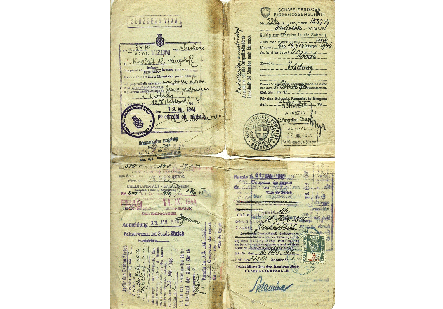 1944 Attractive Axis Special Passport