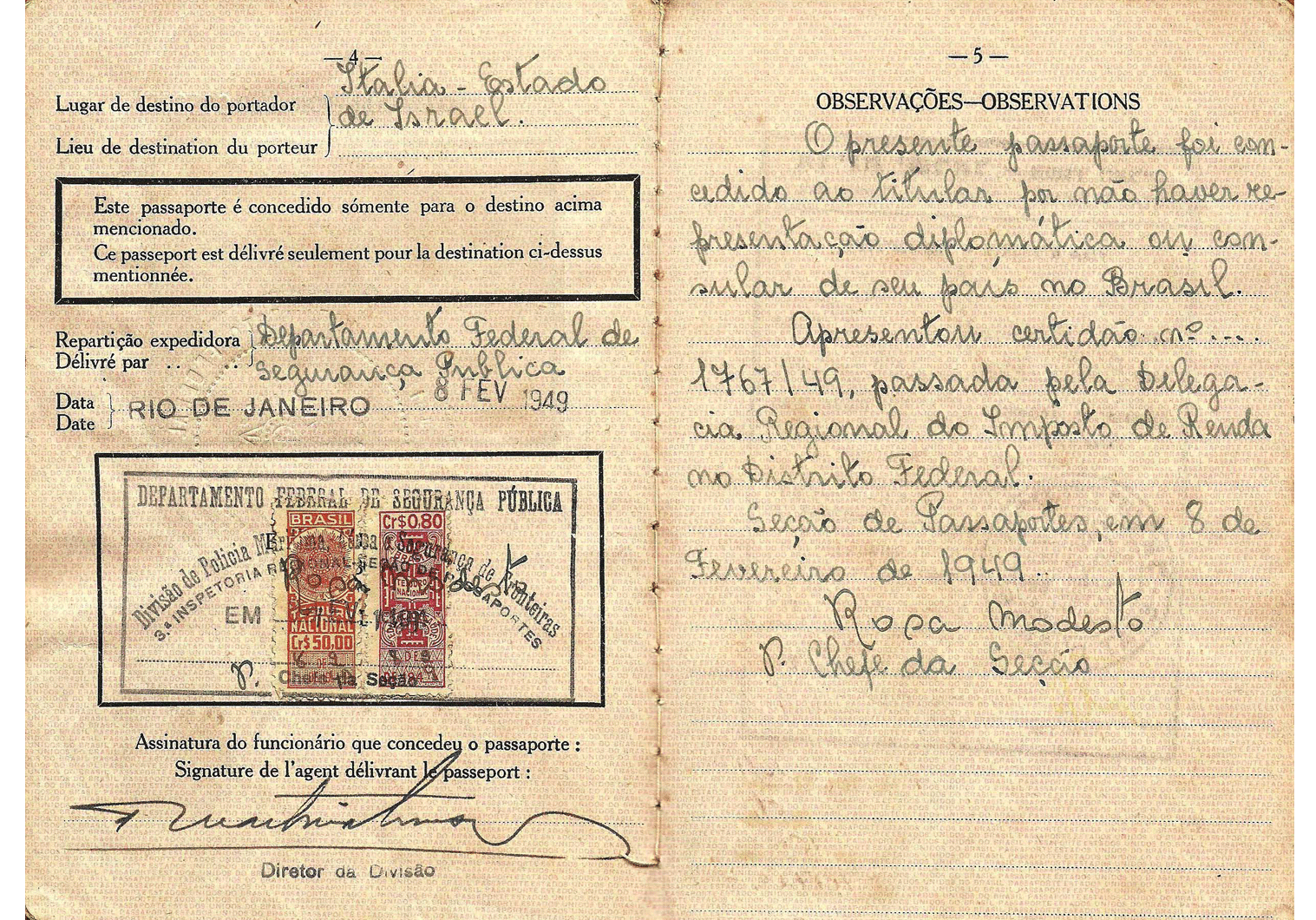 post-WW2 stateless passport
