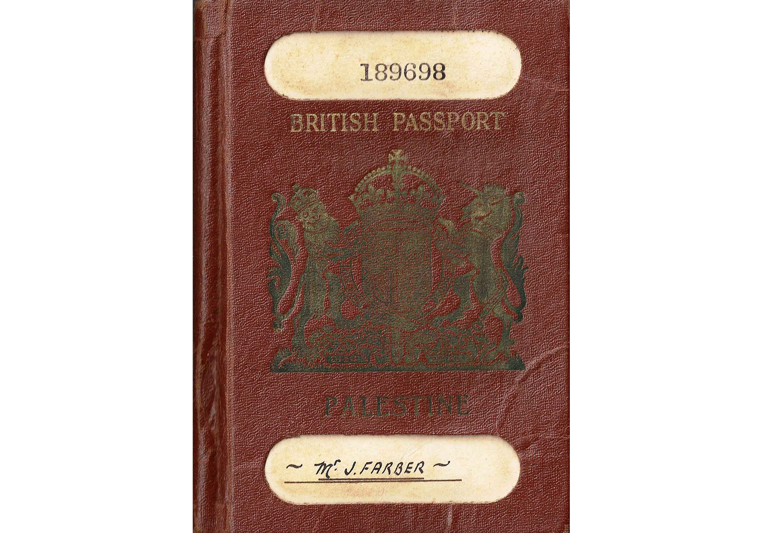Post-war British Palestinian passport