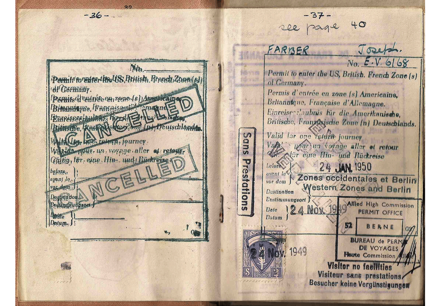 Allied Military Government (AMG) visa