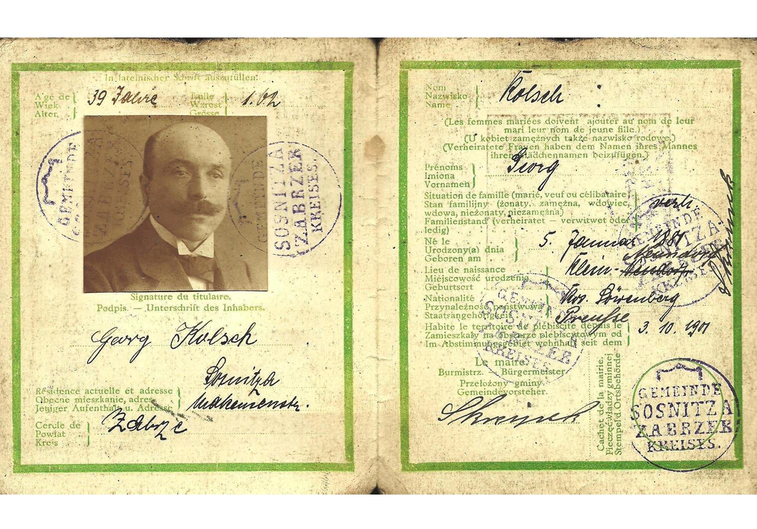 Upper Silesia plebiscite ID.