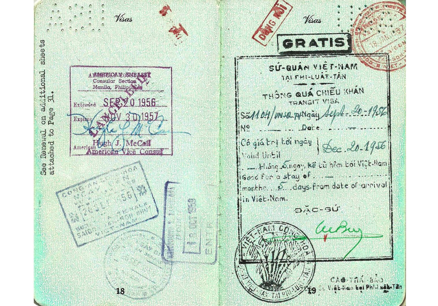 official Vietnamese visa.