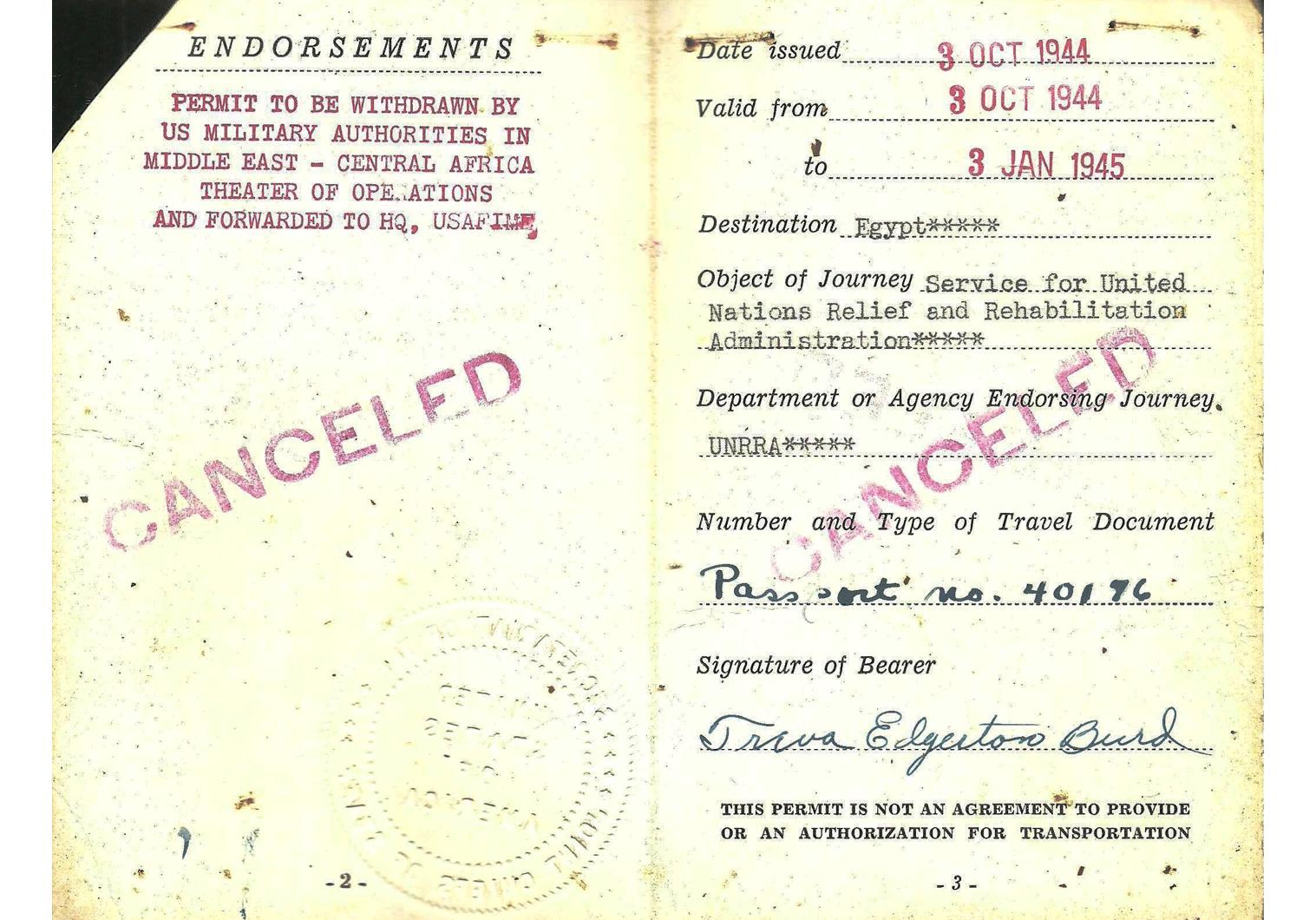 WW2 AMG military pass