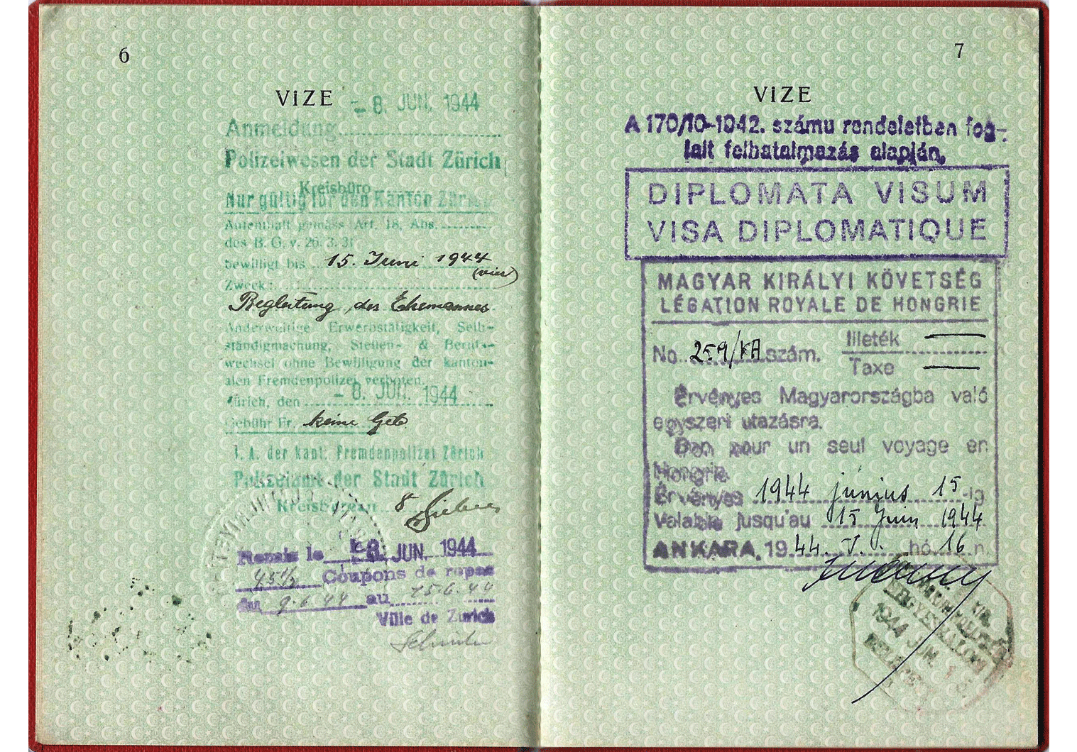 WW2 Diplomatic passport.