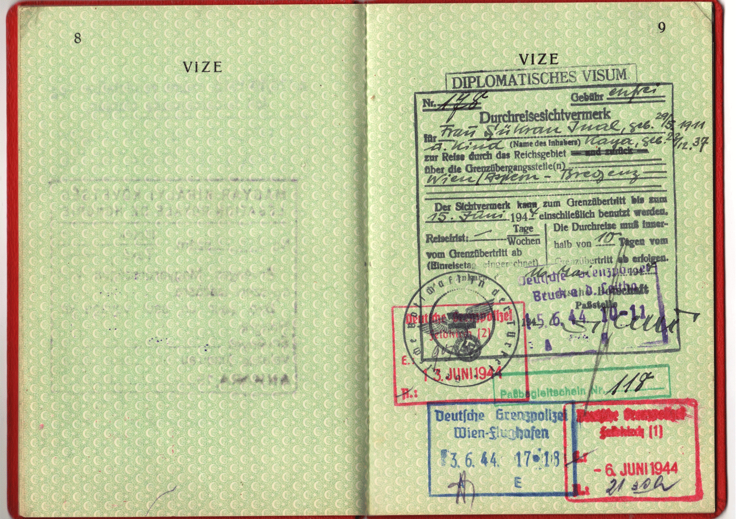 WW2 German Diplomatic passport.