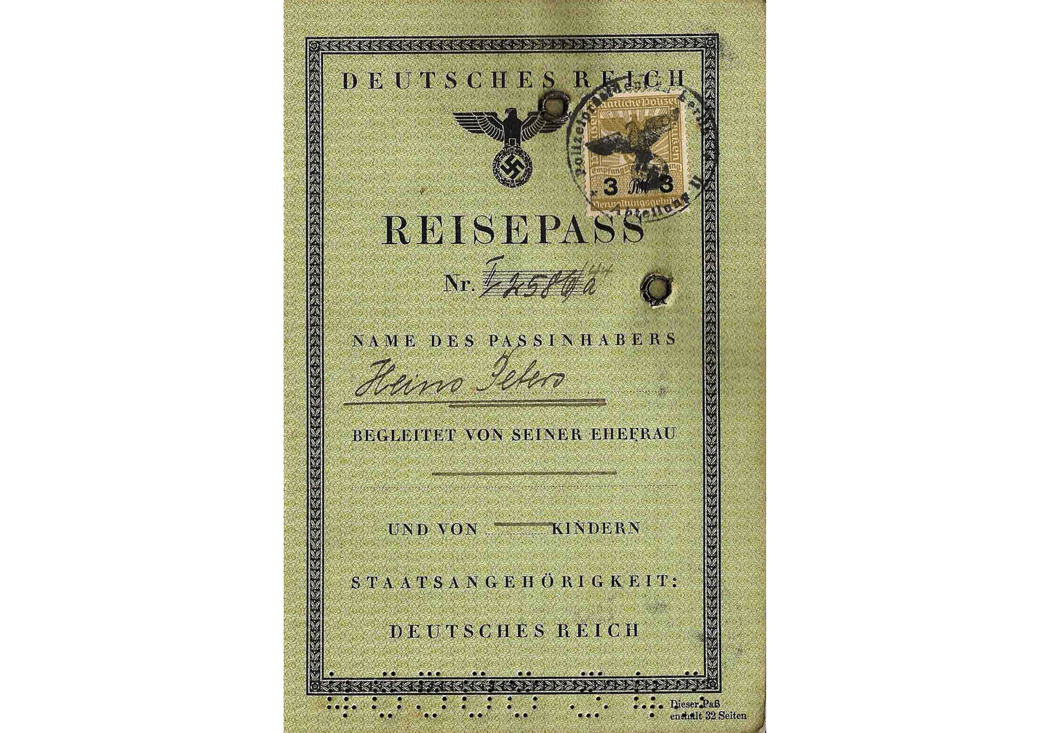WW2 German passport