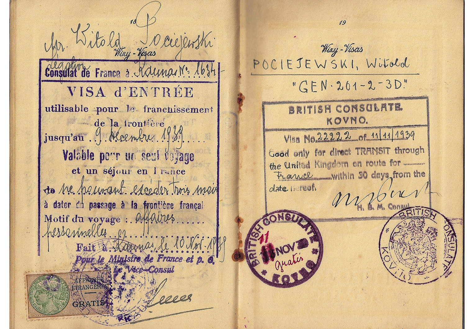 last Polish passports from Lithuania in WW2