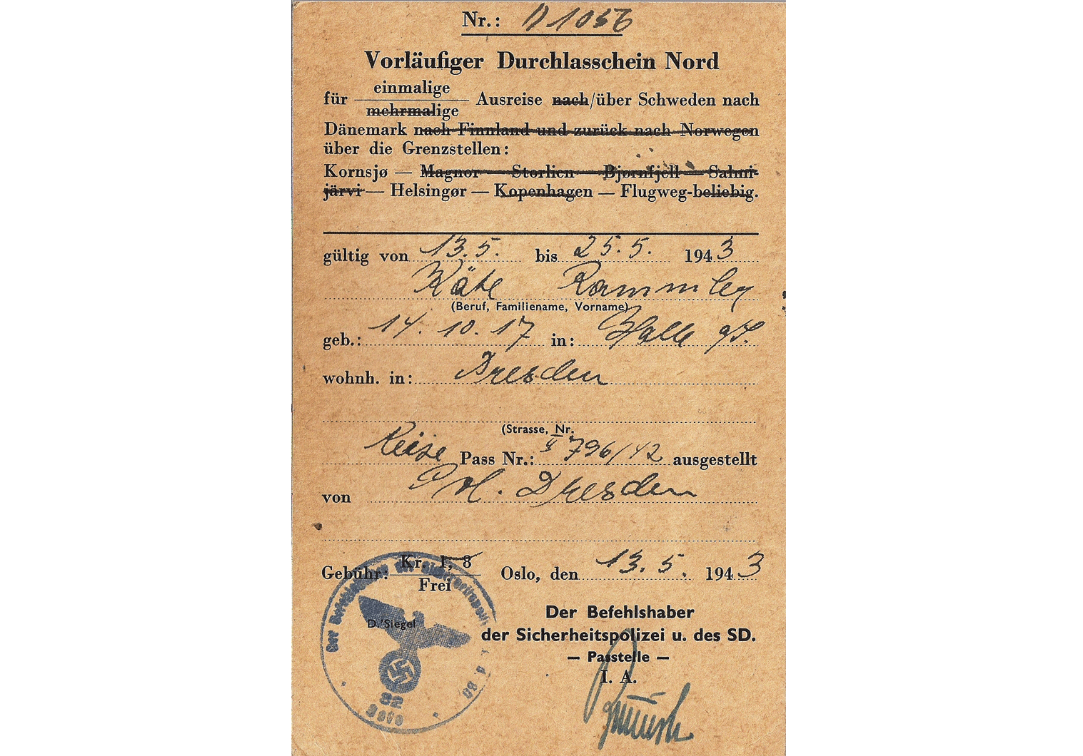 SS & SD travel document