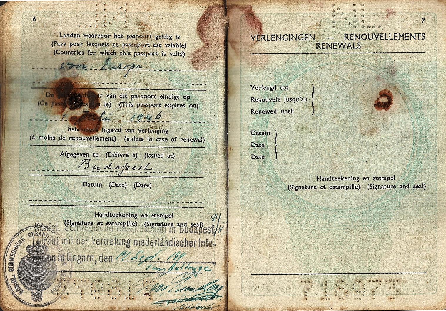 Budapest 1944 visa passport
