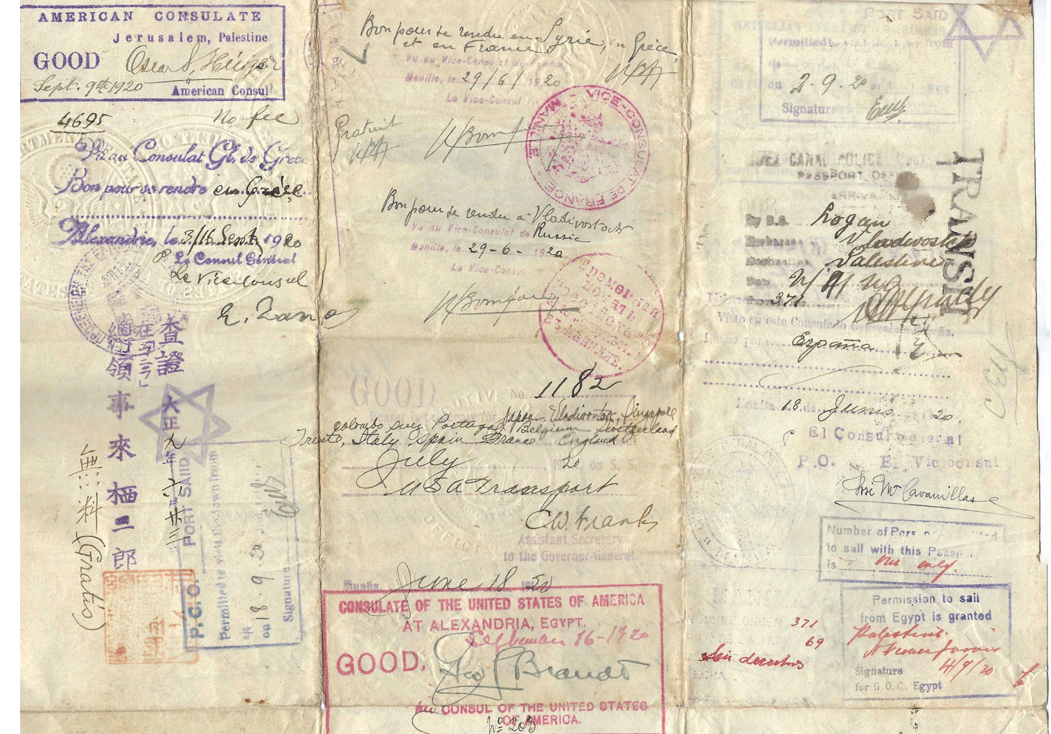 WWI Special passport