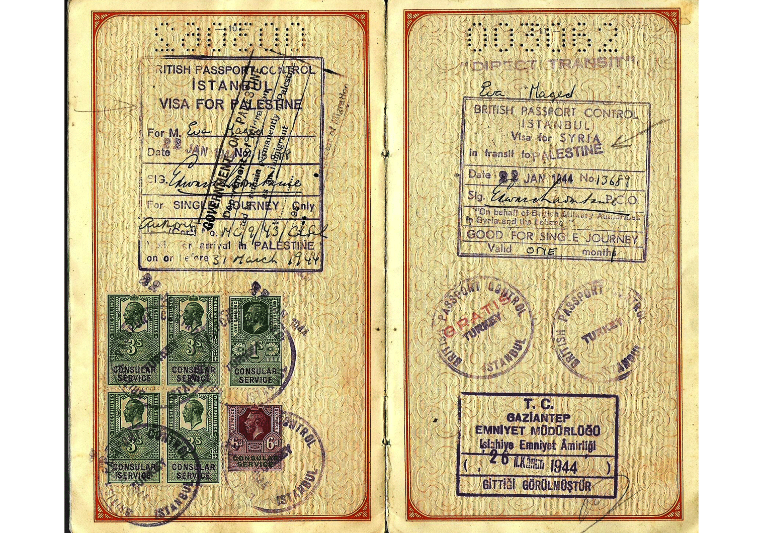 WW2 Hungarian passport