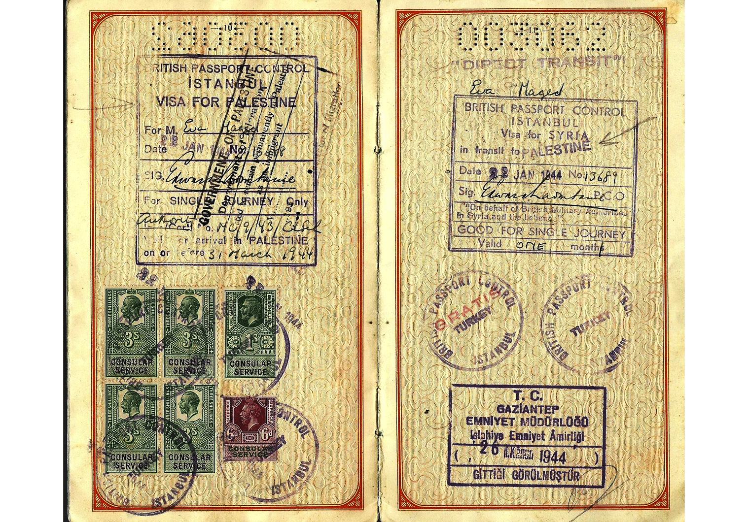 WW2 Hungarian passport