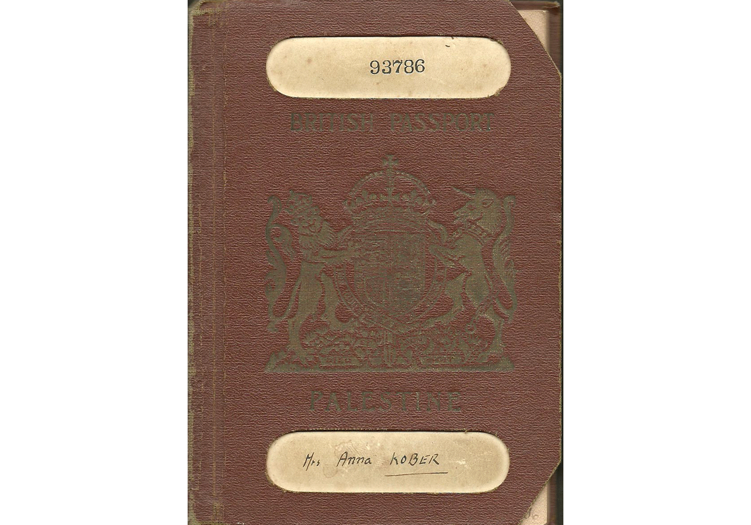 Palestine British passport