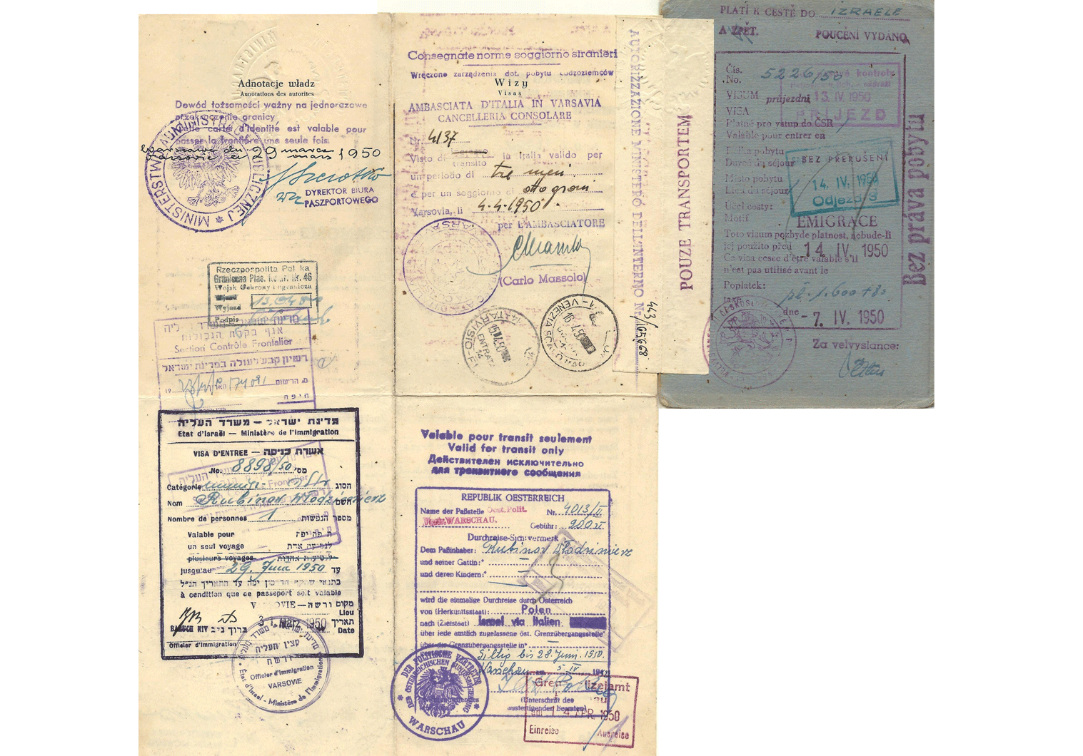 Polish Jewish travel identity document