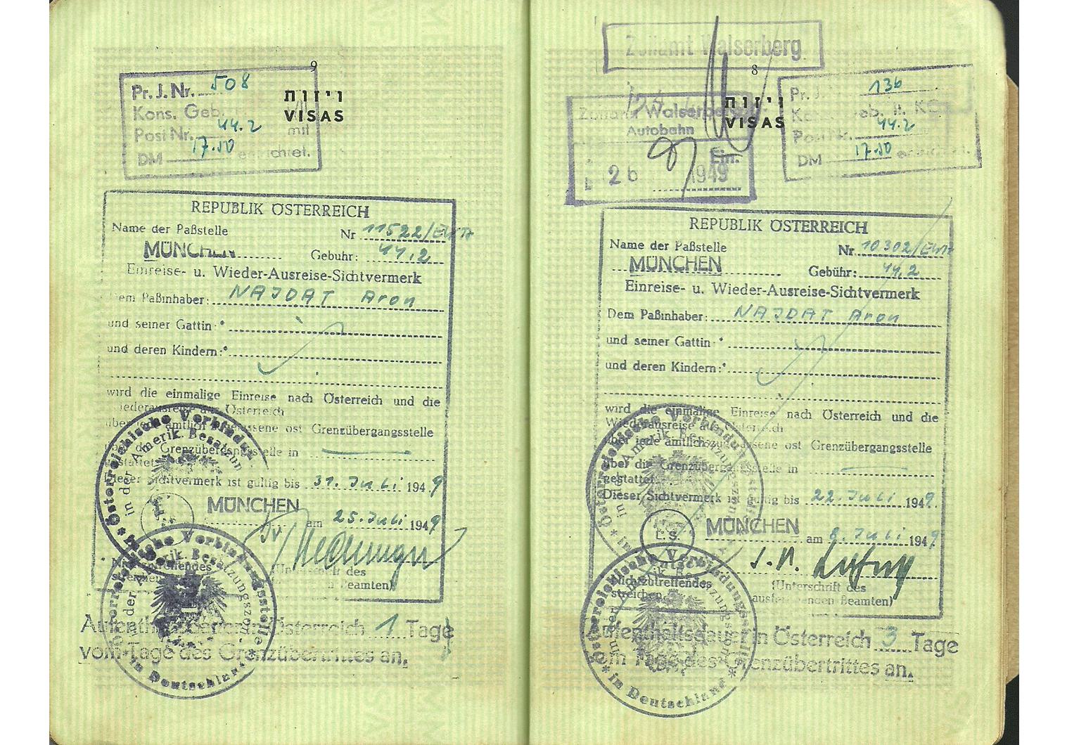 AMG visa 1949