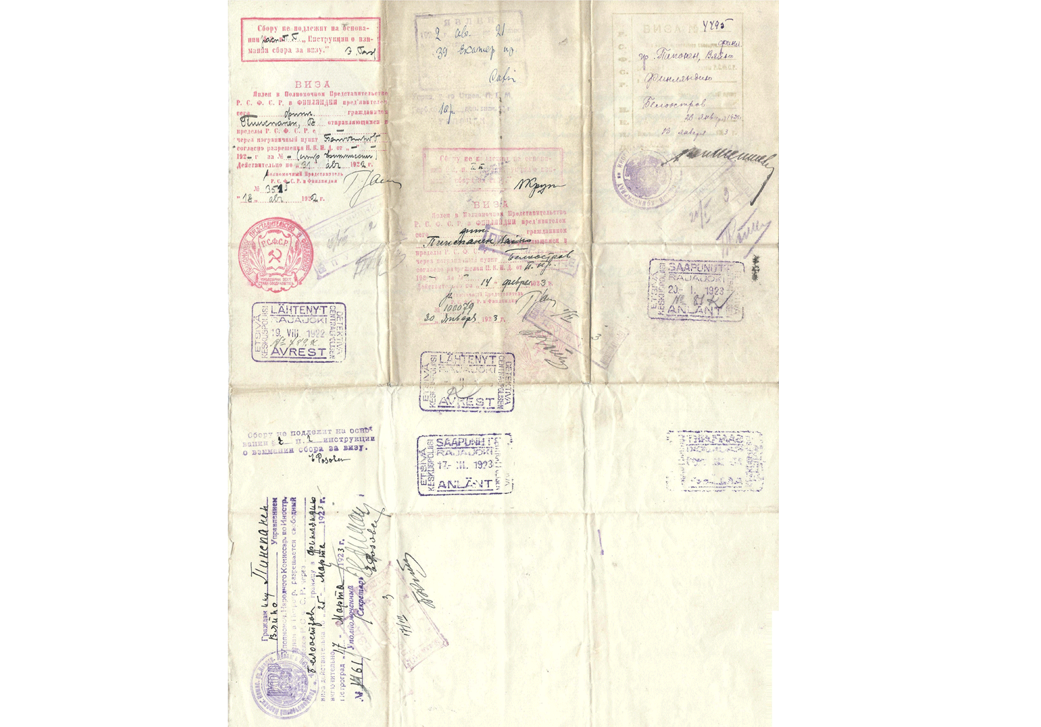 Superb early Finnish diplomatic passport