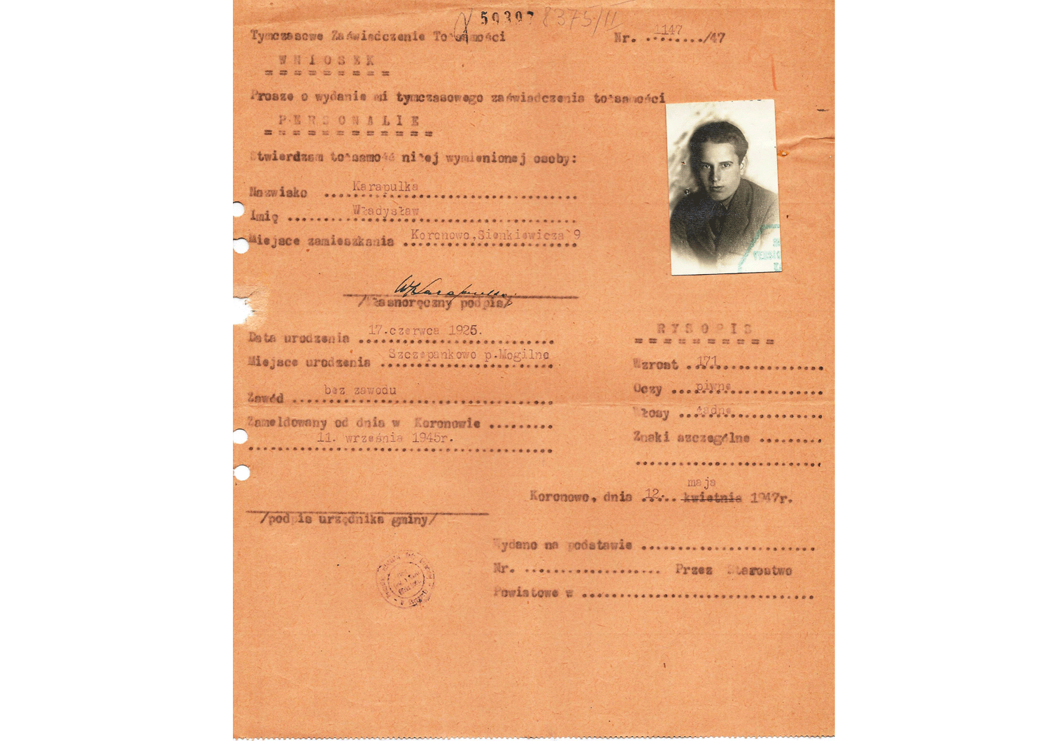 post-war Polish ID.