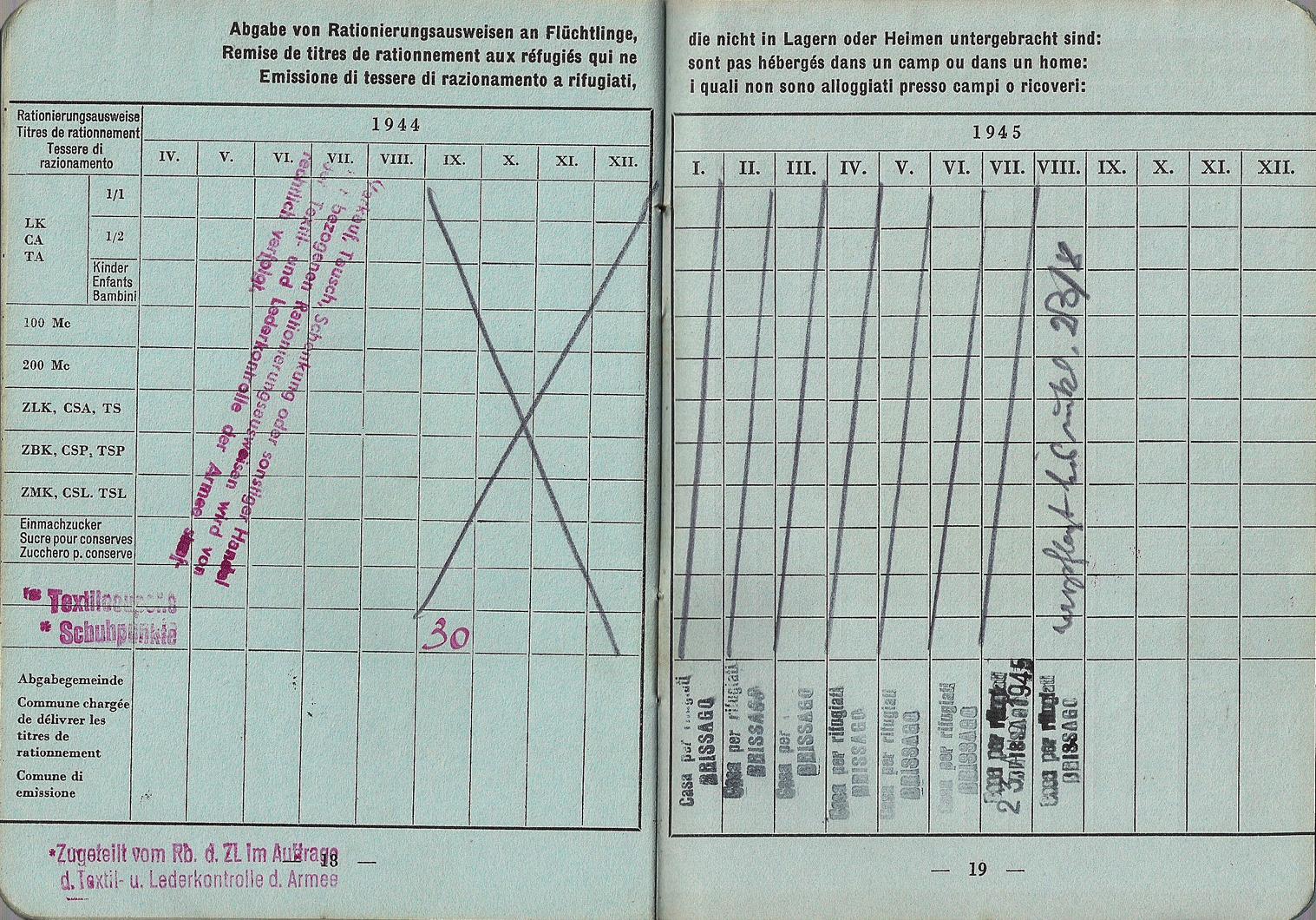 1944 Swiss refugee ID