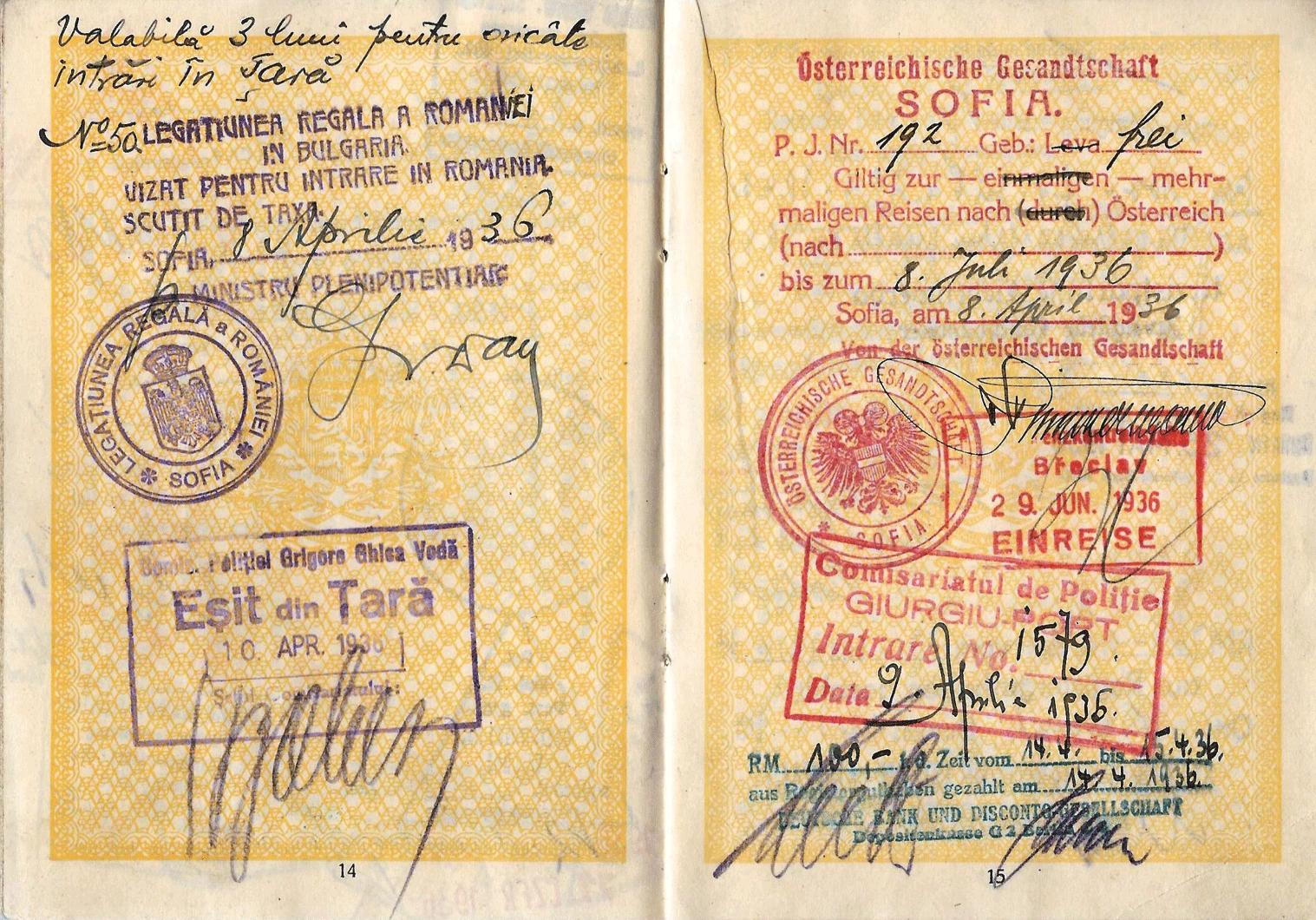 1938 Austrian visa