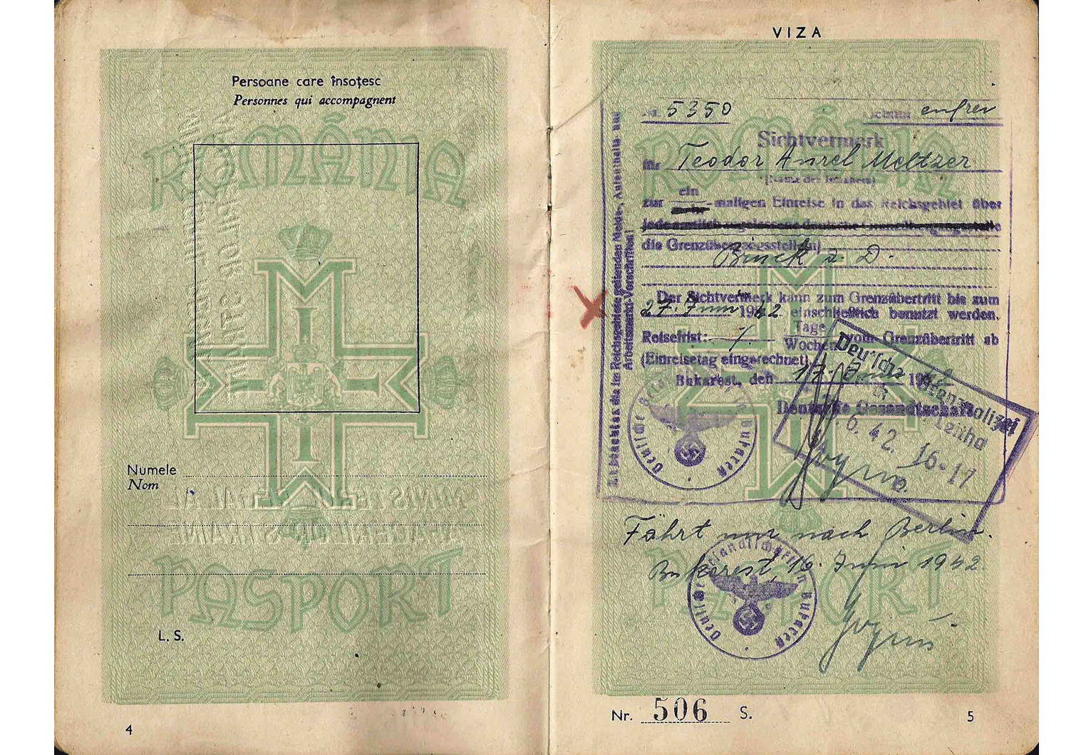Another WW2 Service passport