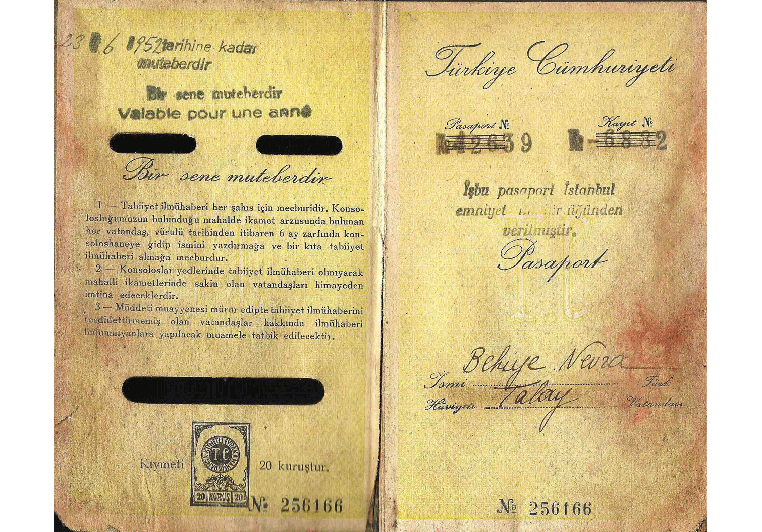 Turkish passport used for Germany
