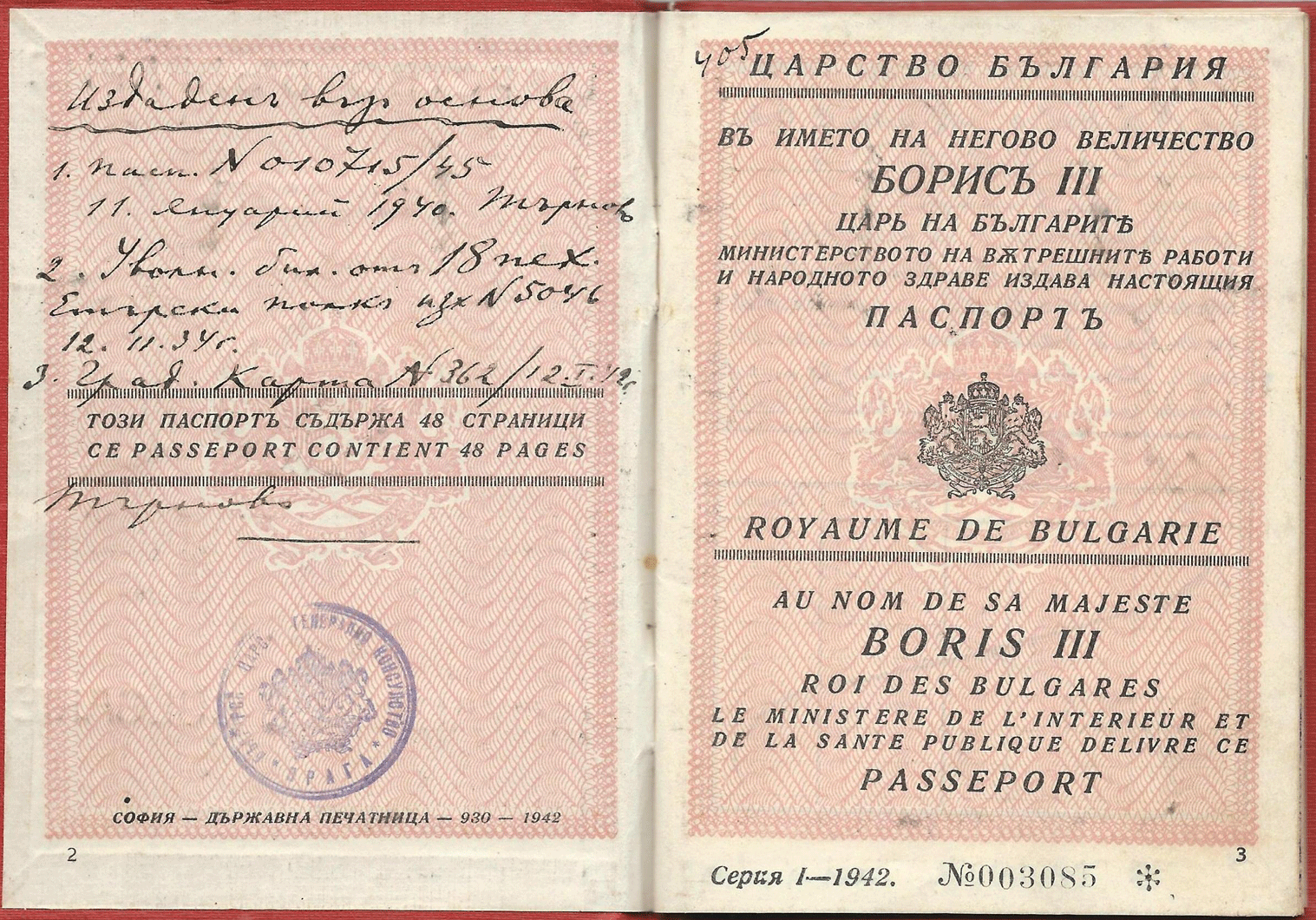 Axis consular passport 1942