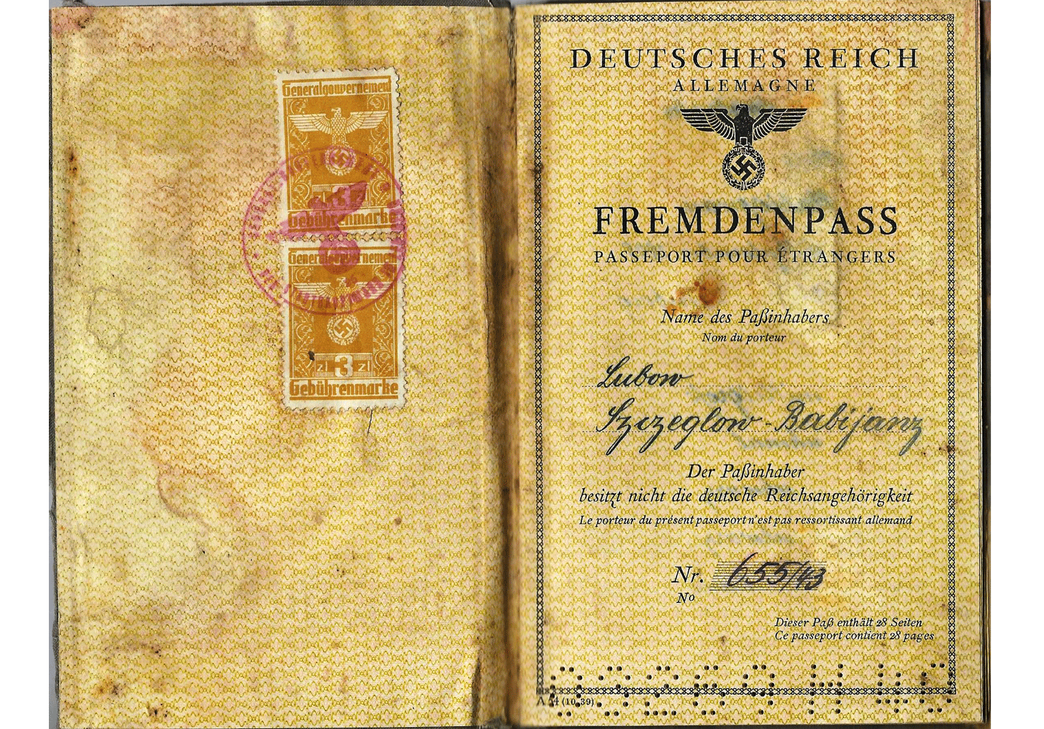 German issued foreigner-passports