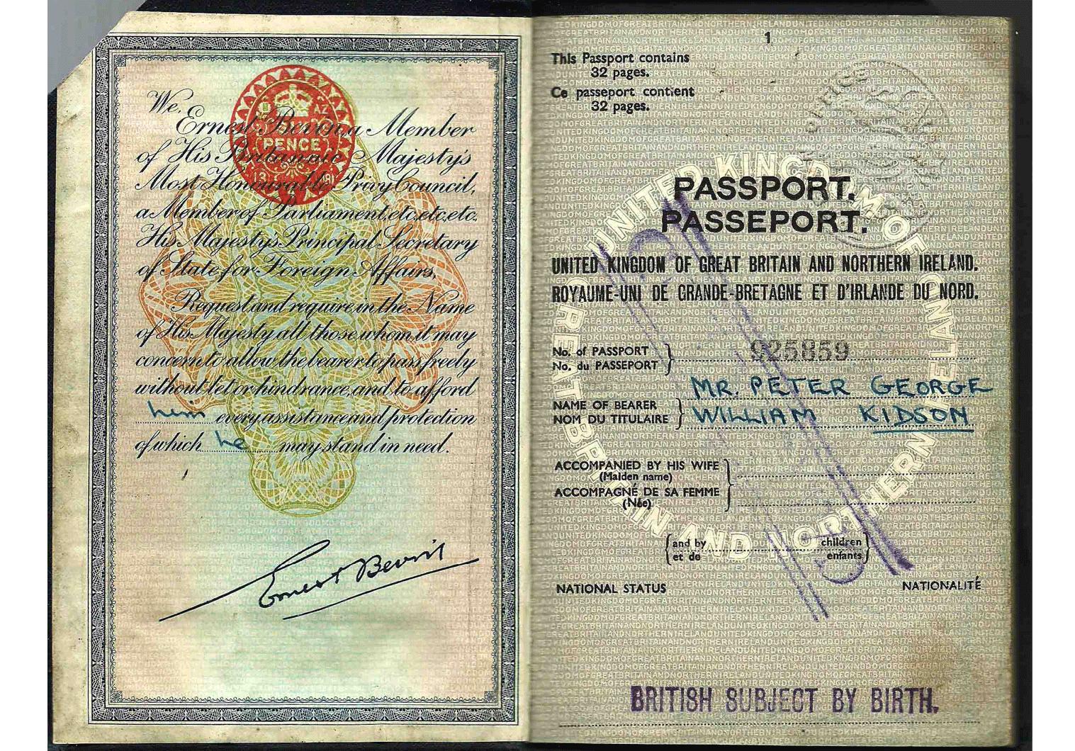 British Diplomatic passport